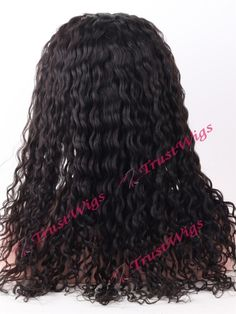 Deep Wave Texture Indian Remy Hair Full Lace Wig