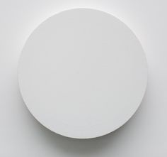 Julian Dashper - Untitled, 2006 (Two circular canvases screwed together - 12 x 12 x Auckland Art Gallery, Plaster Sculpture, Design Research, White Aesthetic, Ancient Art, Installation Art, Geometric Shapes, Contemporary, Modern