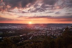 sunset over jena by Henry Tornow on 500px