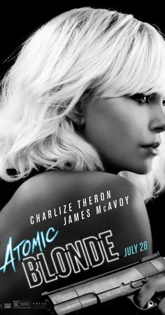 ATOMIC BLONDE – Rated R – 1 hr. Starring Charlize Theron, James McAvoy, John Goodwin, Toby Jones and Sofia Boutella Director for this go round – but also a Producer & stuntman as wel… Hd Movies Online, New Movies, Movies To Watch, Good Movies, 2017 Movies, Imdb Movies, Books Online, Charlize Theron, Blonde Movie