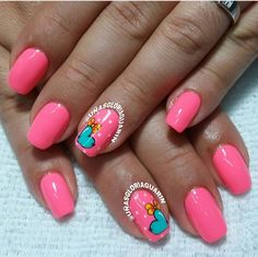 Cute Nail Designs, Beautiful Nail Art, Summer Nails, Cute Nails, Nail Arts, Lips, Nail Art, Fingernail Designs, Ongles