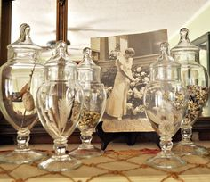 Nature in apothecary jars : Just Vintage Home