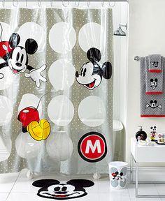 Disney Bath Accessories, Disney Mickey Mouse Shower Curtain - Shower Curtains & Accessories - Bed & Bath - Macy's Bridal and Wedding Registry