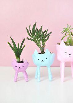 DIY Cat Planters | Design*Sponge