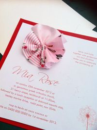 Multi-fabric christening invitation, Gaia Creative Shop
