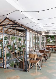 Genbyg creates indoor garden from recycled materials for Väkst Nordic restaurant