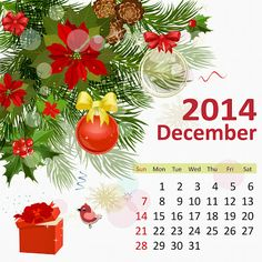 12-December-2014 - Monthly Flower HD Calendars : Easily Printable and Adjustable as Desktop Backgrounds