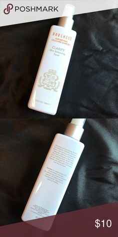 Borghese CLARIFY Skin Balancing Toner Clinically-tested; Allergy-tested; Paraben-Free. Borghese has combined the tradition of classic Italian beauty & advanced science in its skin care collection. This is a blend of antioxidant ingredients that work with skin's natural structure to help reclaim what time can take away. Gently removes embedded impurities that clog pores. Helps restore critical moisture essential to skin's balance. Refreshes & primes skin for your morning & evening skincare…