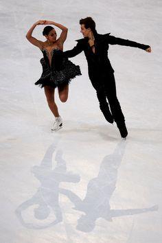 Elena Ilinykh and Nikita Katsalapov of Russia  Ice Dance Free Dance Trophee Eric Bompard,  Ice Dance Costume inspiration for Sk8 Gr8 Designs.