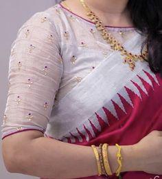 Pattu Saree Blouse Designs, Blouse Designs Silk, Latest Saree Blouse Designs, Blouse Patterns, Simple Blouse Designs, Stylish Blouse Design, Sari Bluse, Blouse Designs Catalogue, Lehenga