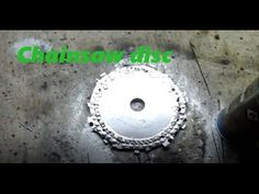 DIY A chainsaw disc \ COMO FAZER disco de motoserra - YouTube