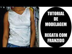 Tutorial de Modelagem Plana/Iniciantes - Regata com Franzido - YouTube