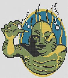Sea MONSTER HALLOWEEN PDF Cross Stitch Chart by RetroLOOMINOTIONS, £3.00