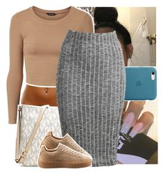 """."" by theyknowtyy ❤ liked on Polyvore featuring MICHAEL Michael Kors and Puma"