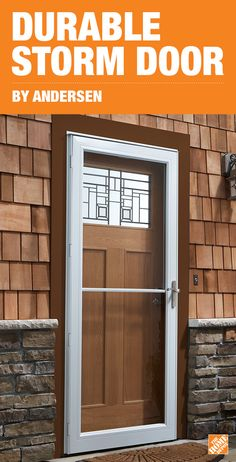 With the easy-to-install Andersen 3000 Storm Doors, you can protect your entryway in just one afternoon. These durable, energy-efficient doors come pre-assembled for easy installation in as little as 45 minutes. A one-hand retractable insect screen allows for easy ventilation and double-layer weather stripping on all sides provides a weathertight fit. Click to shop these storm doors, available exclusively at The Home Depot.