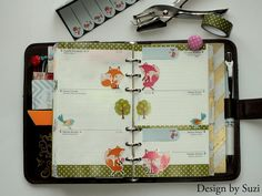 The week nr. 32 - foxes in the forest #planner