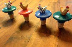 Chicken Wine Stopper - You customize and choose colors on Etsy, $10.00