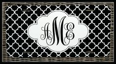 Monogrammed Gift Personalized Monogrammed License by ChicMonogram, $30.00