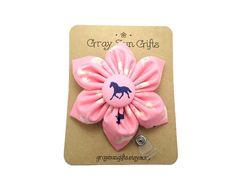 Flower badge reel horse retractable badge reel by GraySunGifts