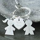 Personalised Silver People Key Ring