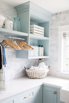 baby blue wash room via Jillian Harris