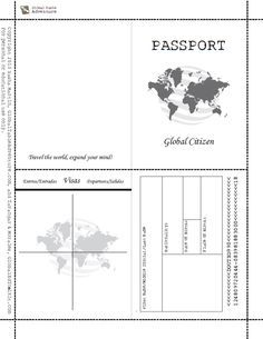 Printable passport template kids pinteres pronofoot35fo Gallery