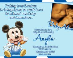 Mickey Mouse Baby Shower Invitations (Baby Mickey Mouse Baby Shower)
