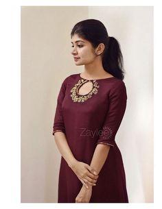 Salwar Designs, Silk Kurti Designs, Simple Kurta Designs, Kurta Designs Women, Kurti Designs Party Wear, Latest Kurti Designs, Salwar Kameez Neck Designs, Sleeves Designs For Dresses, Dress Neck Designs