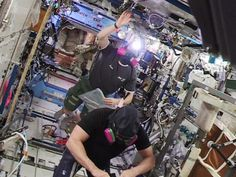 #Exp42 open US segment hatch & return 3:05pm ET. @AstroTerry & @AstroSamantha sample #ISS air, no ammonia indication.