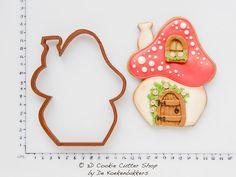 Toadstool House Cookie Cutter van 3DCookieCutterShop op Etsy