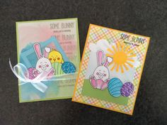 #SSSFAVE Simon Says Stamp March card kit - Some Bunny - by Cori Bailey