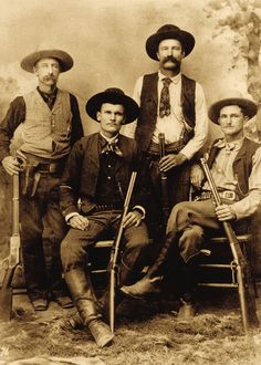 This is among the frequently exhibited Ranger images of the 1890s period, probably because the photographer posed the men well showing their weapons.