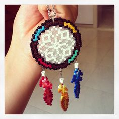 Dreamcatcher hama mini beads by mangocats http://mistertrufa.net/librecreacion/culturarte/?p=12