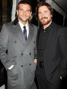 Bradley Cooper and Christian Bale share the spotlight at the premiere of their new crime drama, American Hustle, in N.Y.C. http://www.people.com/people/gallery/0,,20763785,00.html#30065922