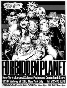 Brian Bolland_Forbidden Planet Ad