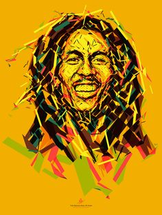 """tsevis: """" Wake up and live (An optimistic Bob Marley portrait) (by tsevis) Portrait of Bob Marley for the Reggae Hall of Fame foundation. This poster is donated to raise funds to support the Alpha. Bob Marley Dibujo, Arte Bob Marley, Bob Marley Songs, Bob Marley Quotes, Wallpaper Pictures, Pictures Images, Wallpaper Ideas, Wallpaper Quotes, Bobs"""