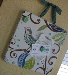 Aux Belles Choses: Fabric Covered Magnet Board Tutorial