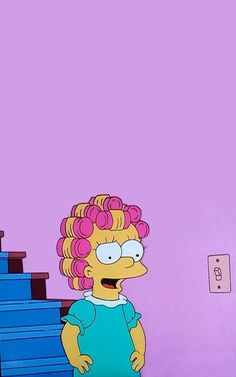 The Simpsons, Maggie wallpaper. Simpson Wallpaper Iphone, Cartoon Wallpaper Iphone, Mood Wallpaper, Homescreen Wallpaper, Cute Disney Wallpaper, Retro Wallpaper, Cute Wallpaper Backgrounds, Tumblr Wallpaper, Cute Cartoon Wallpapers