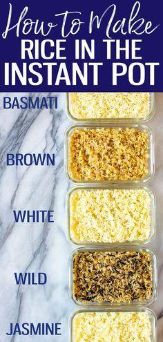 Rice Instant Pot Recipe, Instant Recipes, Instant Pot Dinner Recipes, Rice Recipes, Crockpot Recipes, Cooking Recipes, Healthy Recipes, Chicken Recipes, Best Instapot Recipes