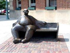 Watchful Citizen   Public Art In Lincoln, Nebraska