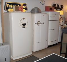 vintage-refrigerators. Retro Renovation-From Ted and Stella's Time Capsule House & Basement Appliance Museum