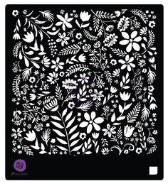 Prima Flowers FOLIAGE LOVER 6 x 6 Stencil 584627 zoom image