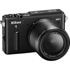 Nikon 1 AW1 Black Camera w/ Nikkor AW 11-27.5mm Lens - 27665 - NEW