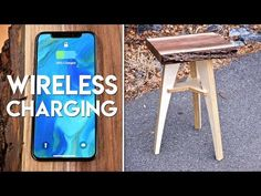 Live Edge End Table with Wireless Charging // Flat Pack Furniture Woodworking Project - YouTube