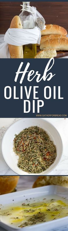 Herb Olive Oil Dip - Simple fresh olive oil prepared with herbs spices for bread dipping. Copycat from your favorite restaurant. Gift by wrapping up with a towel.
