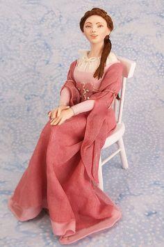 Miniature Dollhouse Doll 1:12 Scale Medieval Princess