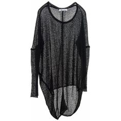 Paychi Guh - Cashmere Sheer Pullover Black (545 AUD) ❤ liked on Polyvore featuring tops, sweaters, over sized sweaters, oversize sweater, pure cashmere sweaters, oversized pullover and feather sweater