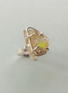 Rough Opal set in sterling silver.  Handmade by Reshma Tia Champaneria