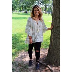 {Top $36|| Jeans $48.50|| Booties $41} M & L left!! Comment below with PayPal to purchase and ship or comment for 24 hour hold #repurposeboutique#shoprepurpose#boutiquelove#style#trendy#musthaves#obsessed#fashion#fallready#schoolready#backtoschool