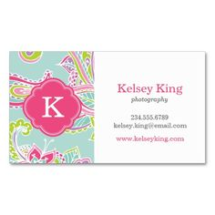 Colorful Bohemian Paisley Henna Custom Monogram Business Card Templates. This great business card design is available for customization. All text style, colors, sizes can be modified to fit your needs. Just click the image to learn more!